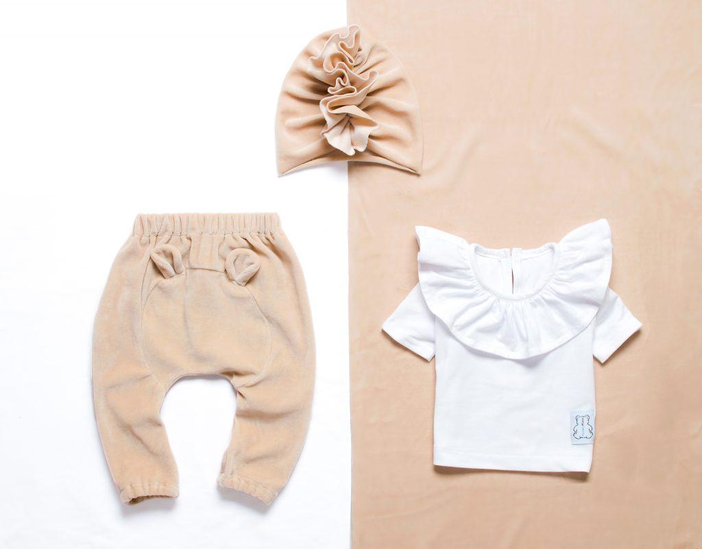 welurowe ubranka dla dzieci