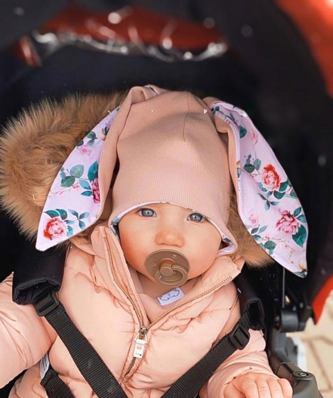 czapka niemowleca uszy