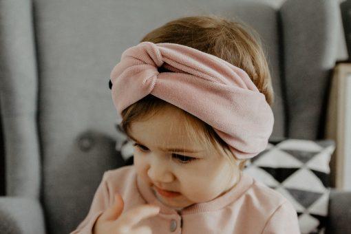 opaska welurowa dziewczynka