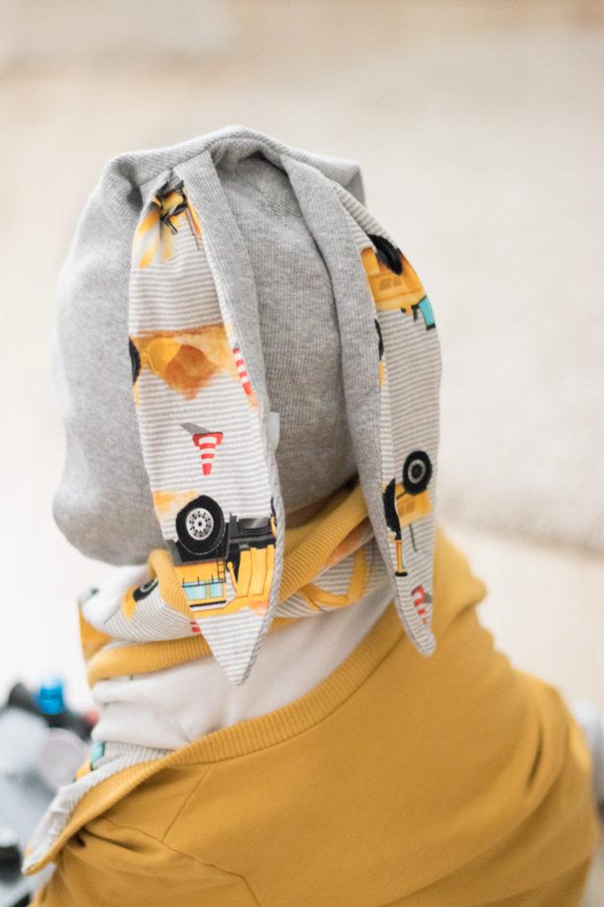 czapka z uszami dziecięca