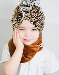 turban welurowy panterka