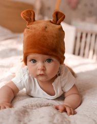 czapka welurowa dla dziecka