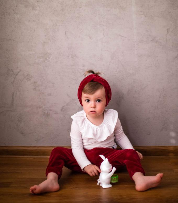 opaska dziecięca turban