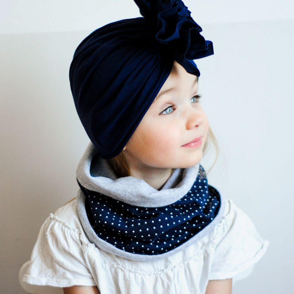 czapki turbany dla dzieci