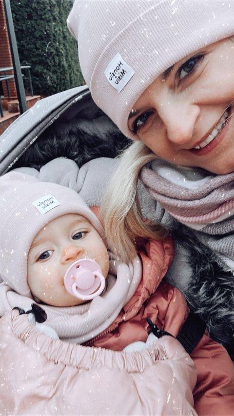 czapki mama córka