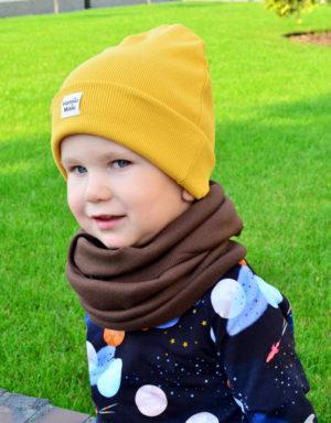 Komplet czapka + komin chłopiec