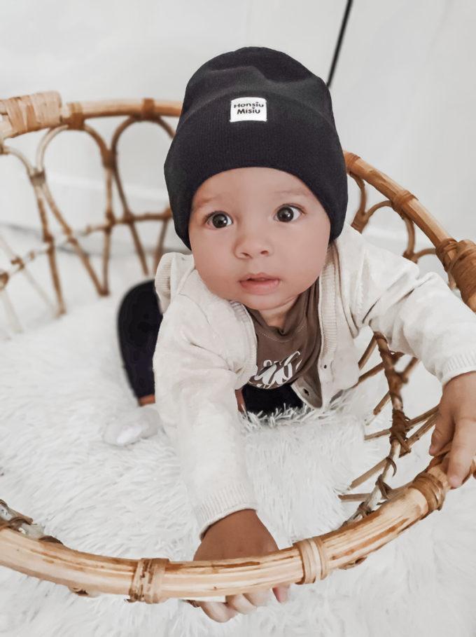 czapka beanie dziecięca czarna