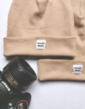 czapka beżowa matchy matchy