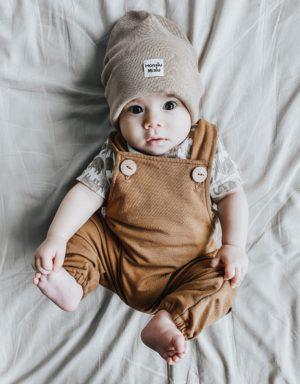 czapka dziecieca prążkowana