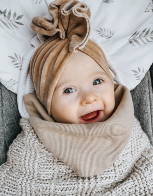turban velvet dla dziewczynki