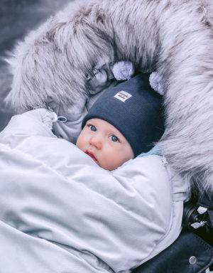 Czapka z uszami niemowlak