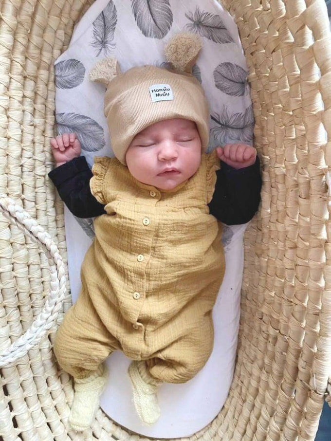 czapka dla noworodka zimowa