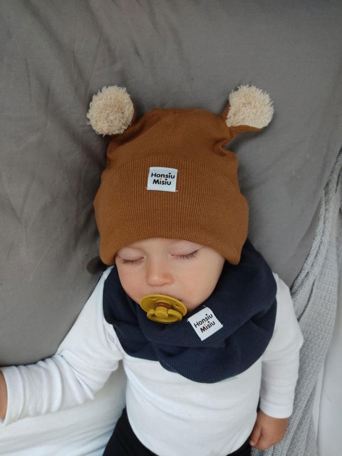 czapka z uszami dla niemowlaka