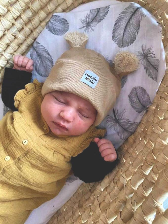 czapka dla noworodka prążek