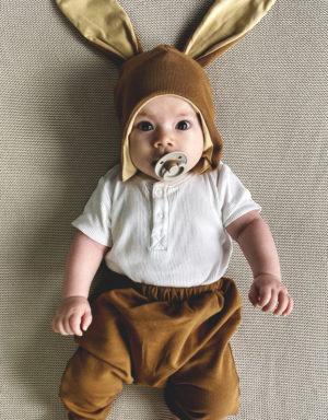 czapka z uszami dla dziecka