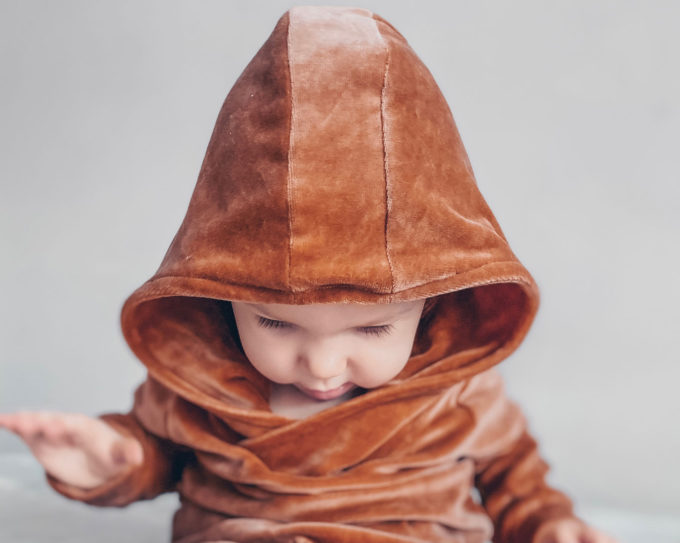 Bluza welurowa niemowle