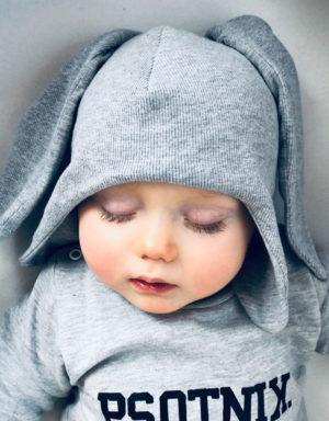 czaspki dzieciece z długimi uszami