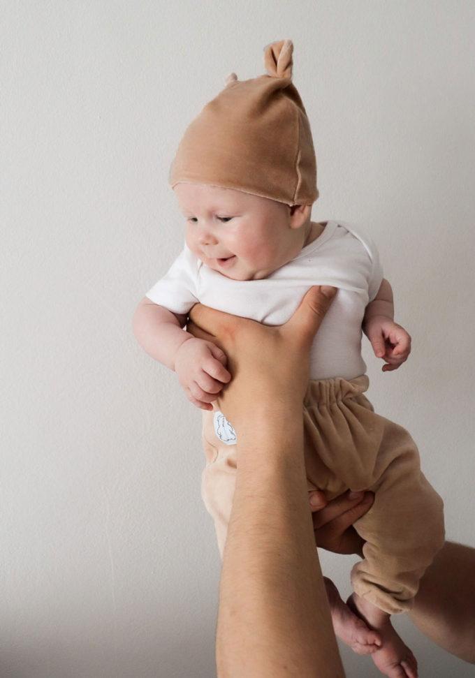 czapka niemowlęca uszki