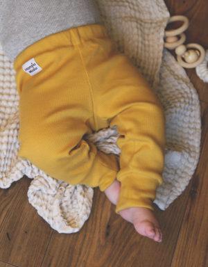 legginsy prażkowane dla dzieci