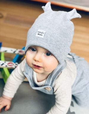 czapki prązkowane dla dzieci