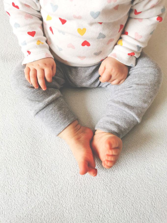 Legginsy prążkowane dziecięce