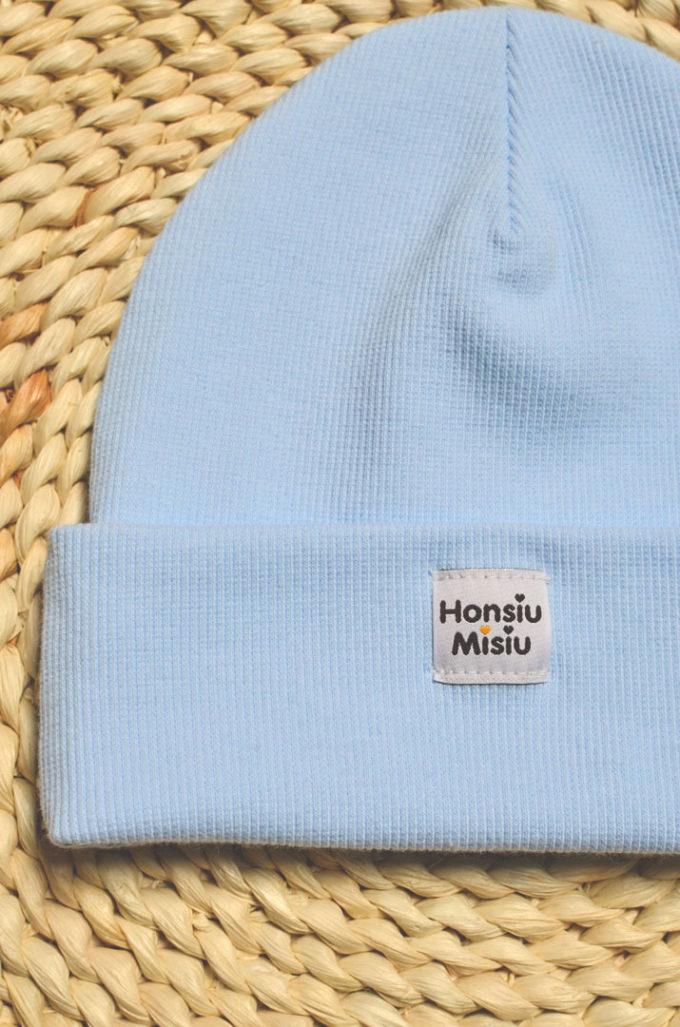 baby blue czapka niemowlęca