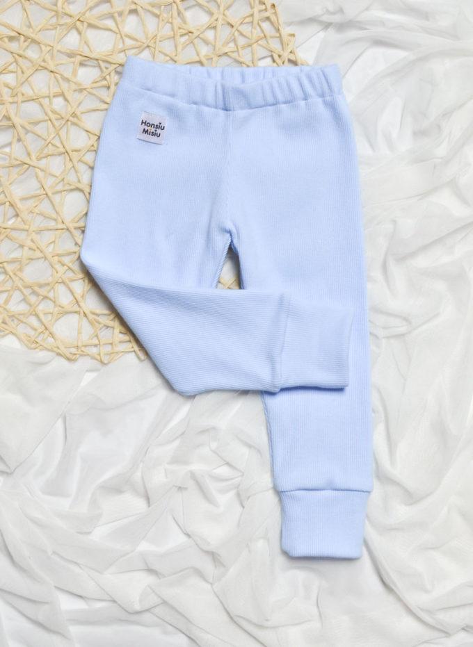 legginsy niemowlęce baby blue