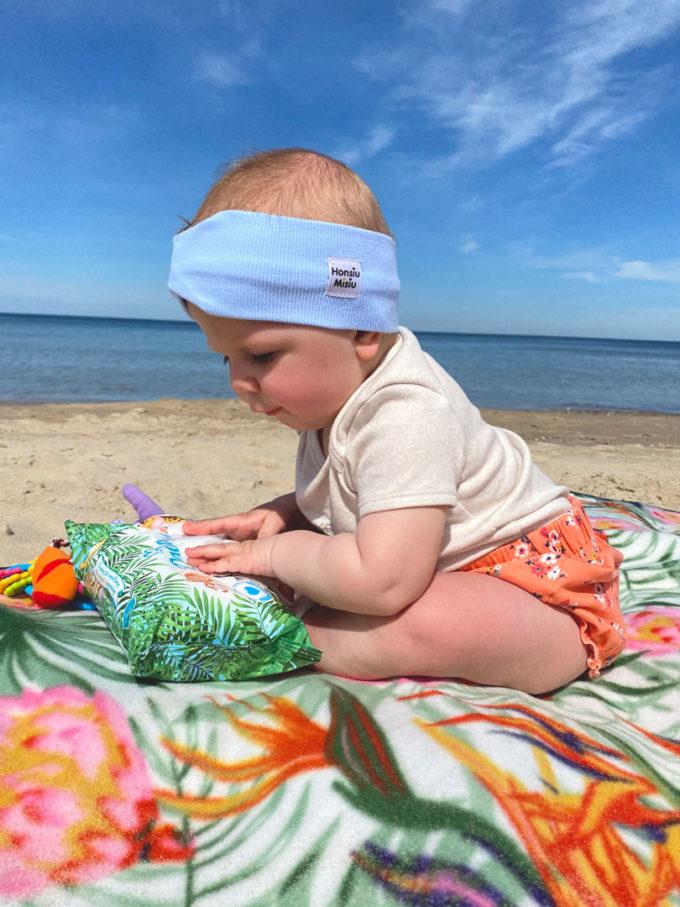 opaska niemowlęca baby blue
