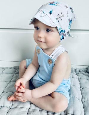 Ogrodniczki dla niemowlaka baby blue