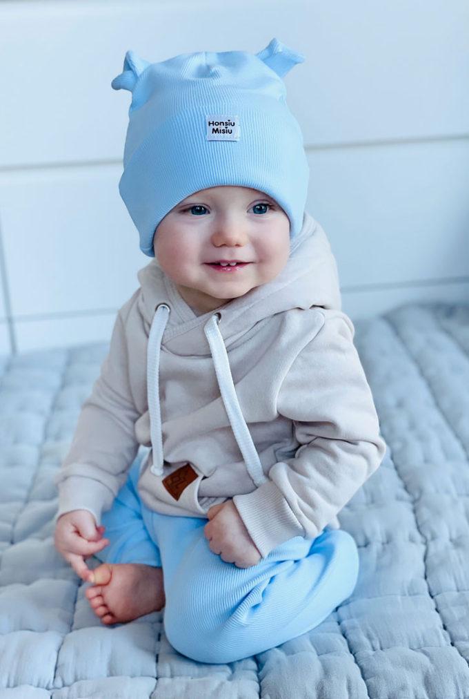 czapka dziecięca baby blue