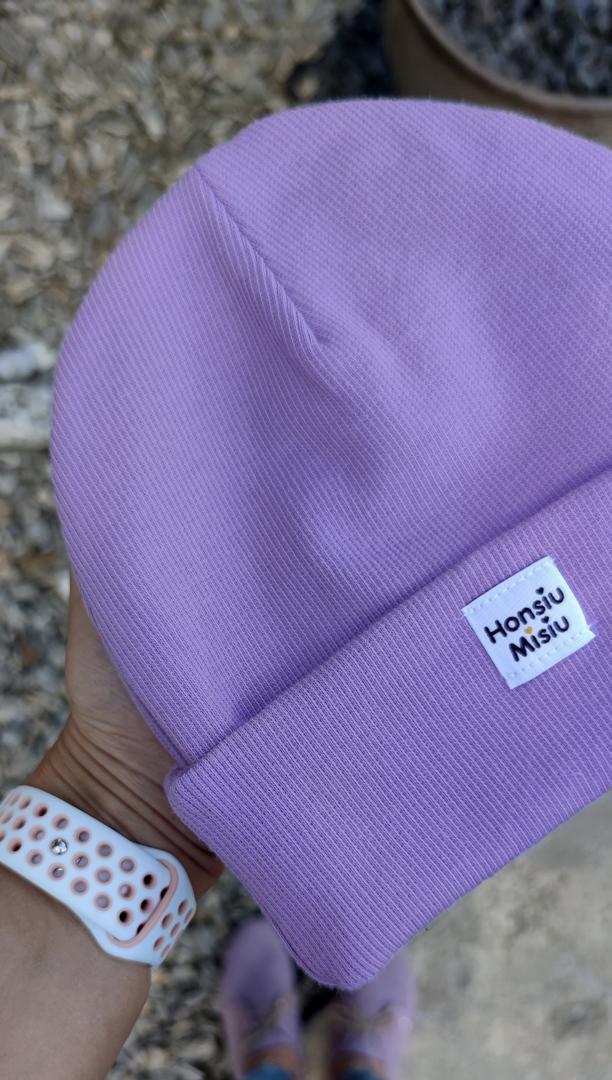 czapka niemowlęca fiolet