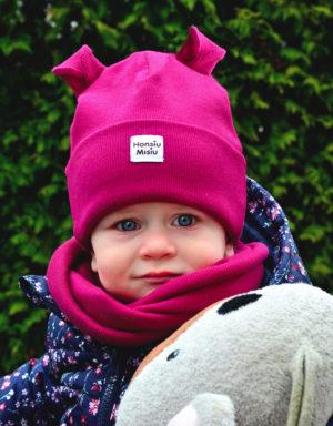 czapka niemowlęca z uszami