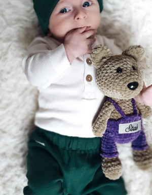legginsy niemowlęce prążkowane