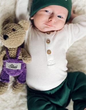 legginsy prążkowane dla niemowlaka