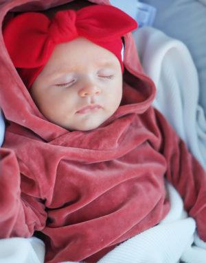 Opaska niemowlęca kokardką