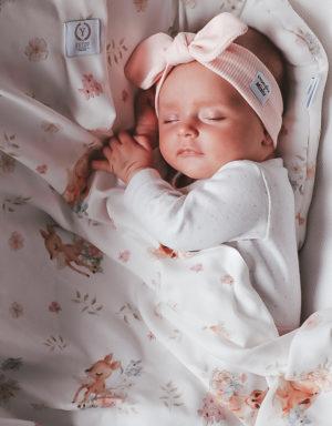 Opaska niemowlęca prążkowana