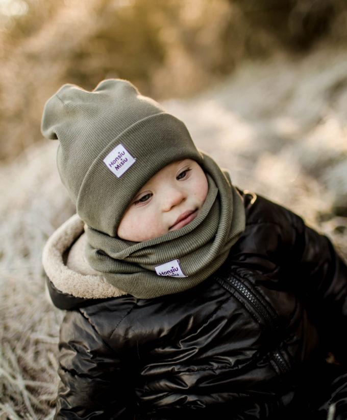 czapka dziecięca prążek